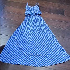 Poof Size Large Spaghetti Strap Maxi Dress Stripes